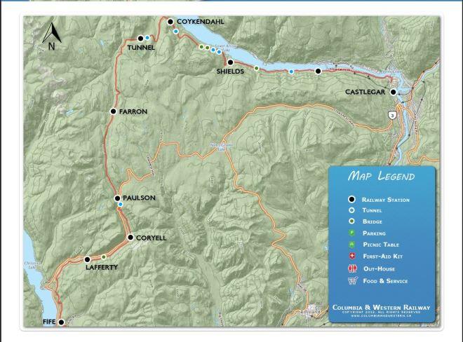 Map Paulson to Castlegar